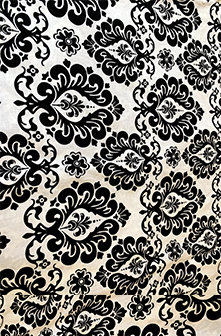 White background with black damask